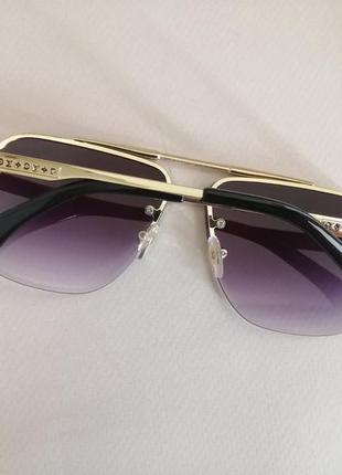 Эксклюзивные брендовые солнцезащитные очки унисекс металлической оправе 20214 фото