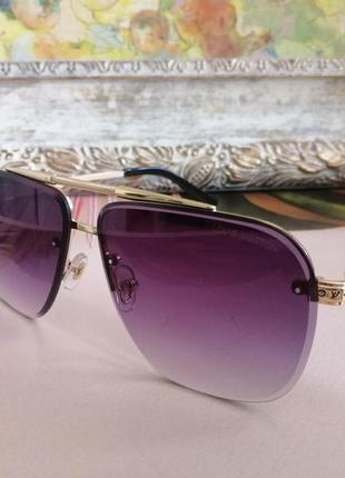 Эксклюзивные брендовые солнцезащитные очки унисекс металлической оправе 2021