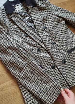 Стильный пиджак жакет английский стиль клетка