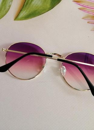 Стильные округлые солнцезащитные женские очки ray ban с градиентом 20216 фото