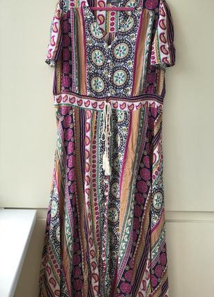 Яркое платье легкое натуральное 24 р 100% вискоза