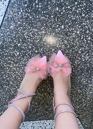 Туфлі на каблуках розовий цвет