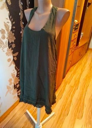 Стильное платье туника next красивая спинка, l-xl