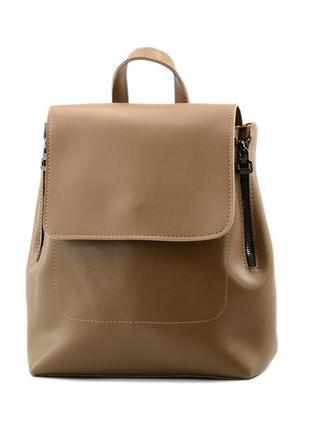 Сумка-рюкзак жіноча табак