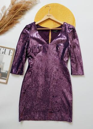 Шикарное платье в пайетках от warehouse