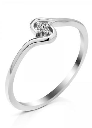 Серебряное кольцо с бриллиантом 18b