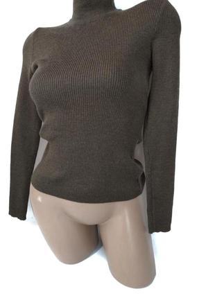 🛍️super sale🛍️коричневый базовый свитер рубчик водолазка