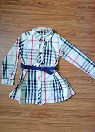Рубашка - туника на 4 года 💛 рубашечка на девочку