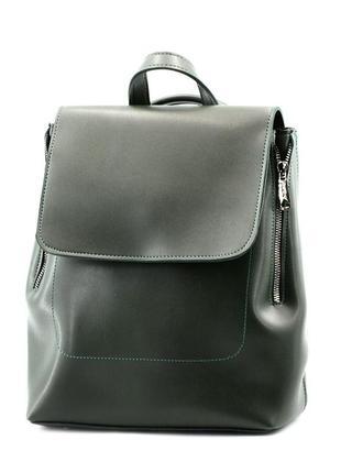 Сумка-рюкзак зелений жіночий