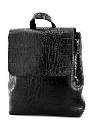 Сумка-рюкзак чорний жіночий