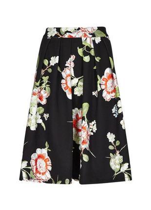 Красивая,цветочная юбка из плотного трикотажа,мягкие складки,большой размер,tu