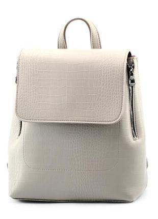 Сумка-рюкзак сірий жіночий