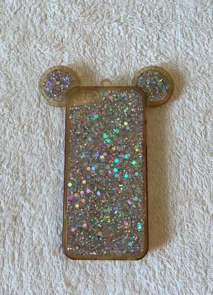 Чехол на iphone 5 (5sx) гламуркая мышка 2 штуки