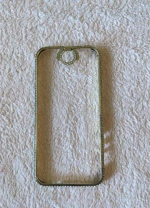 Металлическая оправа на iphone 5 со стразами