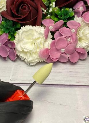 Фреза-шлифовщик силикон-карбидная конус для полировки 600 грит (р/ч 20 мм, диаметр11)