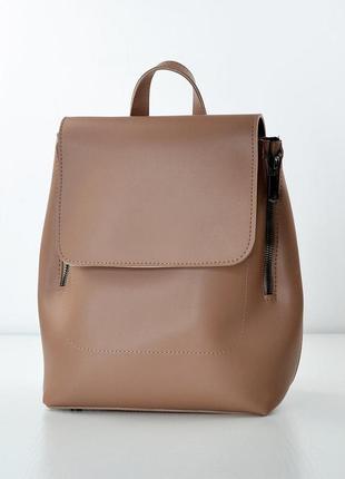 Сумка-рюкзак темно-бежевий жіночий