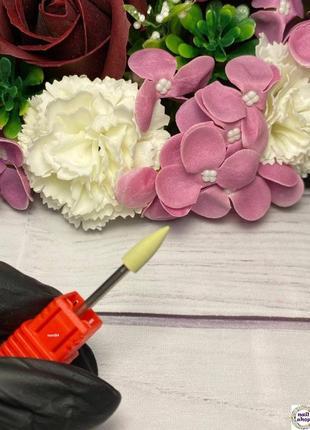 Фреза-шлифовщик силикон-карбидная конус для полировки 600 грит (р/ч 12 мм, диаметр 5мм)