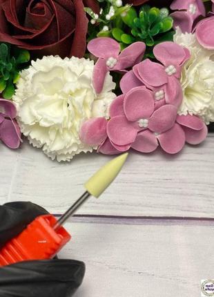 Фреза-шлифовщик силикон-карбидная конус для полировки 600 грит (р/ч 16 мм, диаметр 6 мм)