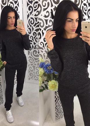 Черный ангоровый костюм женский спортивный теплый жіночий теплий костюм 2d7f7892bae78