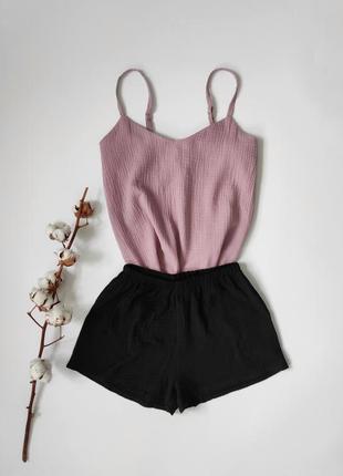 Муслиновая пижама фрезового цвета