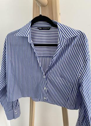 Рубашка zara ассиметричная