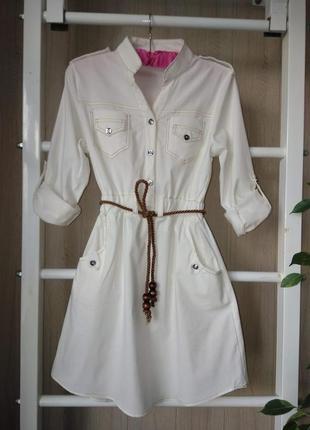 Натуральное платье милитари