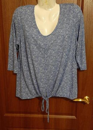 Нежная трикотажная блузка размера 48-50.