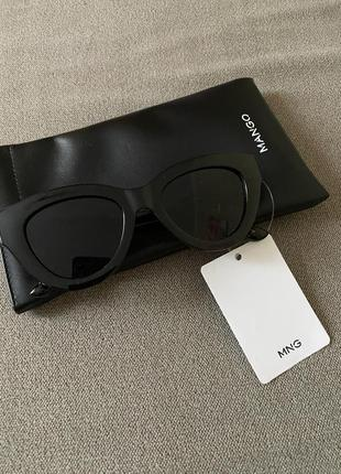 Новые очки манго чёрные  mango