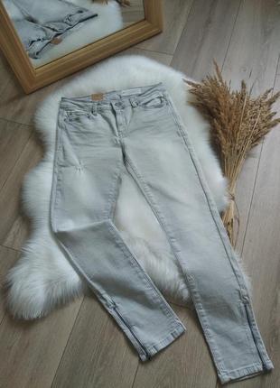 Esprit нові сірі джинси skinny з замочками