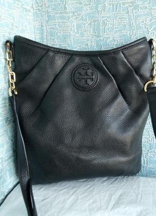 Кожаная сумка люксового бренда tory burch тори берч сша