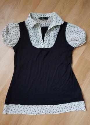 Блуза,  блузочка с цветочками