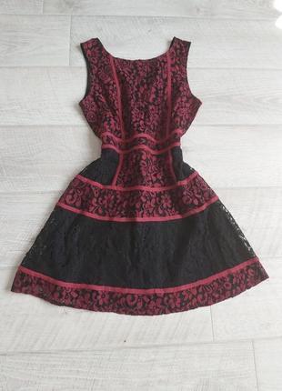 Кружевное платье сарафан бирка красное