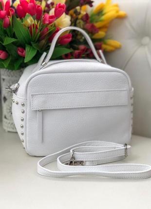 Женская кожаная сумка италия кроссбоди жіноча шкіряна сумка