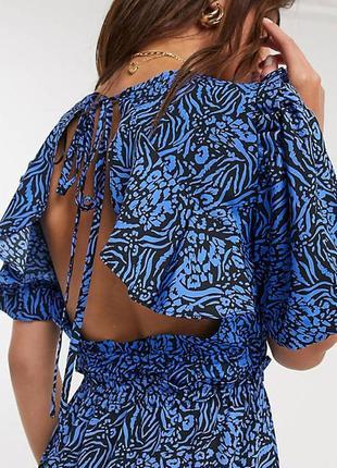 Платье с открытой спинкой topshop (р.l)