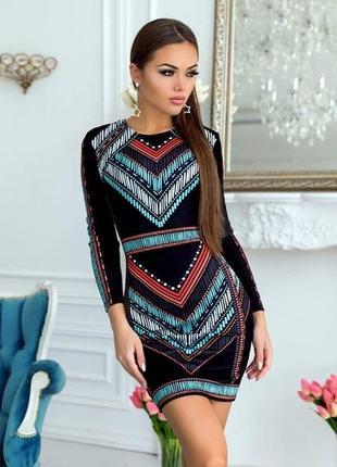 Платье в принт по фигуре laleto.