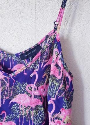 Ками блуза топ принт фламинго