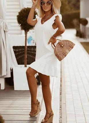Легкое симпатичное летнее женское платье