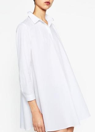Рубашка оверсайз zara (р.l)