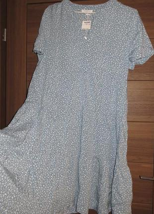 Легкое летнее платье в мелкий принт, м