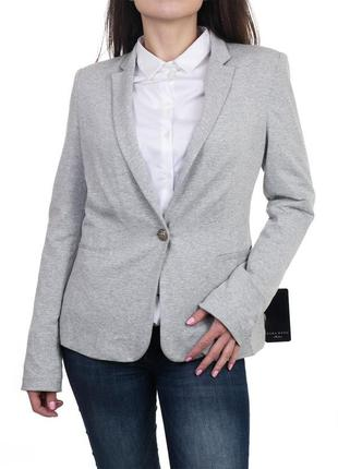 Базовый серый однобортный пиджак-блейзер (размер 40-42)