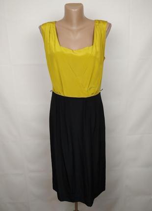 Платье красивое шелковое стильное 100% шёлк autograph uk 10/38/s