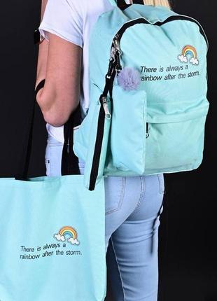 Стильный набор 4 в 1, рюкзак, сумка, косметичка, т062