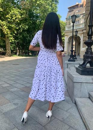 Платье женское батал летнее легкое миди длинное ниже колена белое черное9 фото