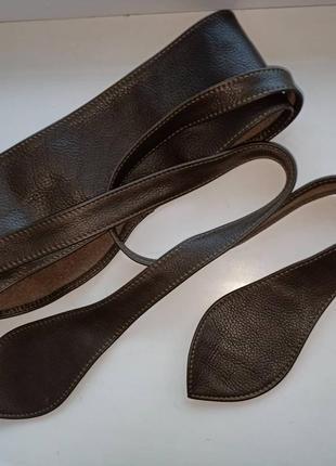 Винтажный кожаный ремень кушак пояс оби на талию