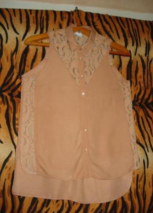 """Супер блуза """"items vero moda""""р.xs.100%вискоза."""