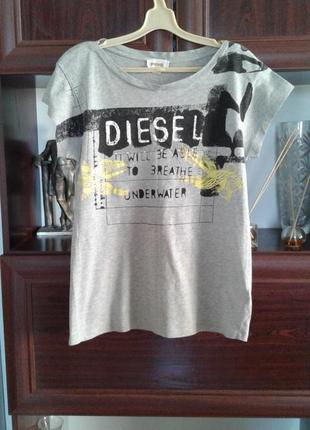 Хлопковая футболка с коротким рукавом diesel