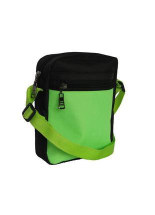 Салатовая сумка-барсетка,сумка-мессенджер для подростков- стильно, удобно,недорого
