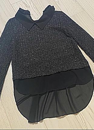 Блуза. переливается. удлиненная сзади