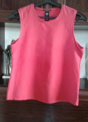 Ярко розовый топ ,футболка без рукавов gap