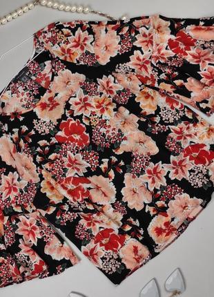 Блуза лёгкая шикарная цветочная uk 16-18